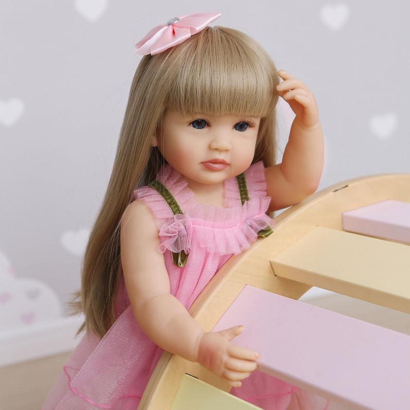 "Full Body Vinyl Silicone Reborn Toddler Doll 22"" Realistic ..."