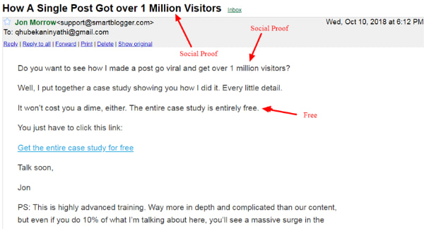 email example smart blogger.