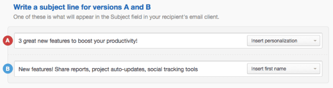 Testing two subject lines.
