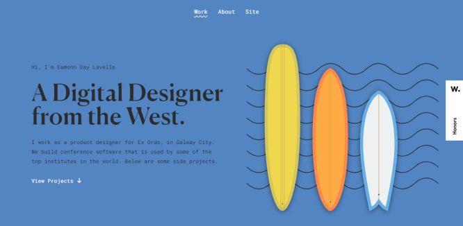 Example of a design portfolio website.