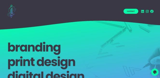 Screenshot of a designer's website.