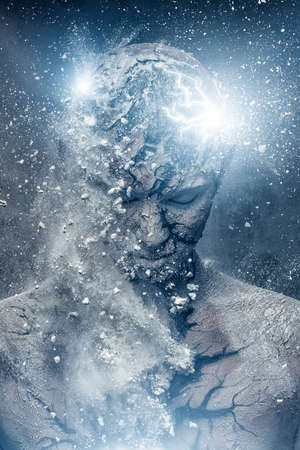 Man with conceptual spiritual body art Stock Photo - 22351715