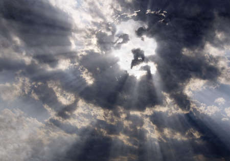 sorrow of jesus: Face of Christ in the sky