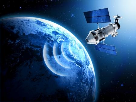 satellite dish: satellite in space