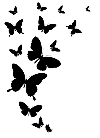 Butterfly Silhouette Cliparts Stock Vector And Royalty Free Butterfly Silhouette Illustrations