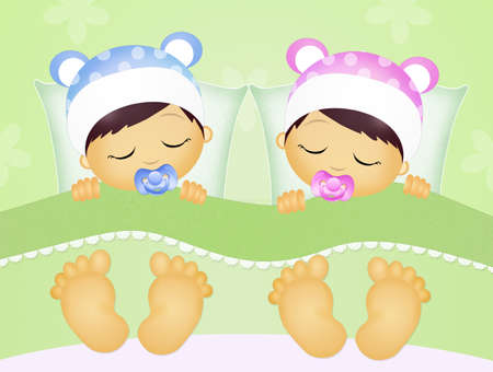 BOYS AND GIRLS DREAMING: babies sleeping in the bed