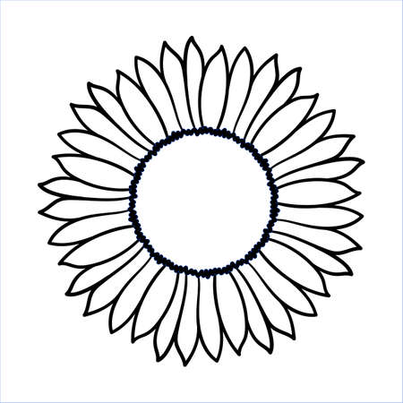 Simple Flower Outline Stock Vector Illustration And Royalty Free Simple Flower Outline Clipart