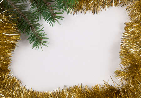 Christmas And New Year Frame Border Background With The Place     Christmas and New Year frame border background with the place for text  Top  view