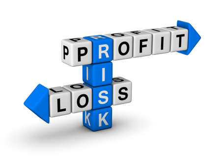 Risk, Profit and Loss crossword Stock Photo - 9713544