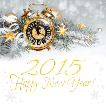 2015 count down - Happy New Year greeting card Stock Photo - 31042411