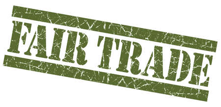 Fair trade green grunge stamp Stock Photo - 23420990