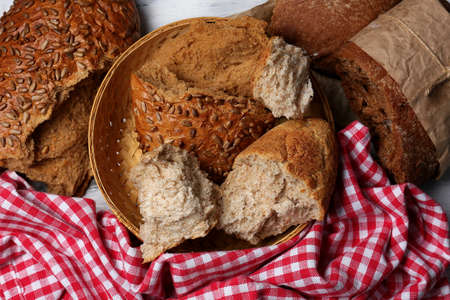 Breaking bread close up Stock Photo - 29135419