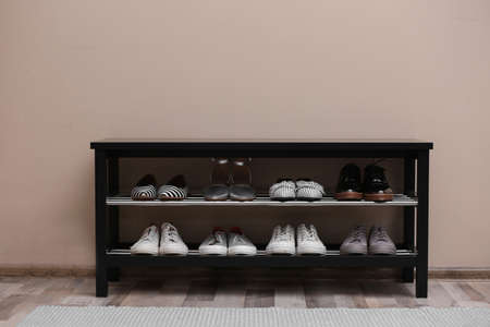 shoe rack stock photos and images 123rf