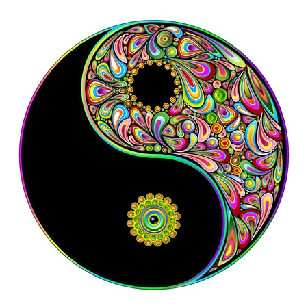psychedelic: Yin Yang Symbol Psychedelic