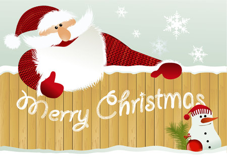 Christmas background with Santa Claus Stock Vector - 46754793