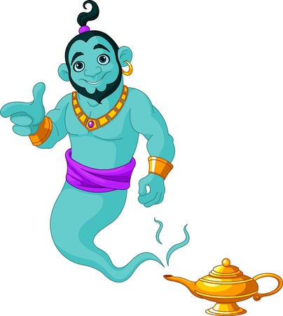 Genie appear from magic lamp Stock Vector - 20732248
