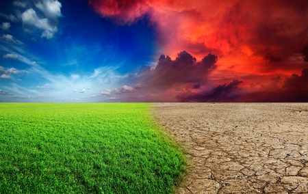 Ecology landscape - climate change concept, desert invasion Stock Photo - 12635713