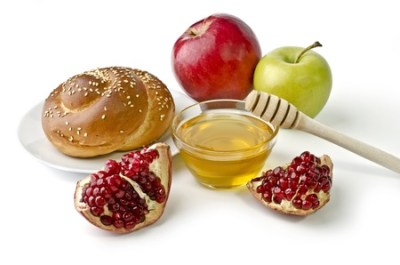 Still Life With Apples, Pomegranates, Fish, Challah And Honey.. Stock  Photo, Picture And Royalty Free Image. Image 17729412.