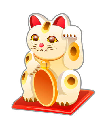 vector icon japanese cat toy Stock Vector - 15995591