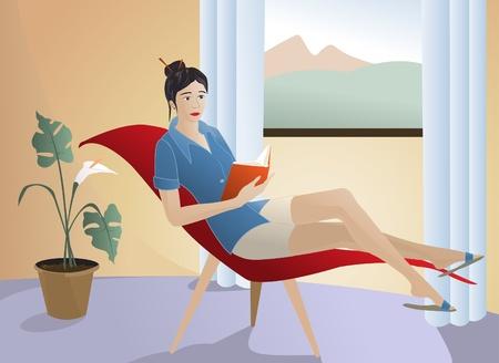 Relaxing Stock Vector - 26291029
