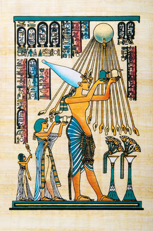 Egyptian history concept with papyrus Stock Photo - 13289835