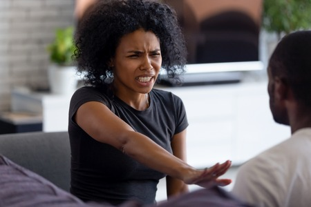 Black Couple Arguing Stock Photos And Images - 123RF