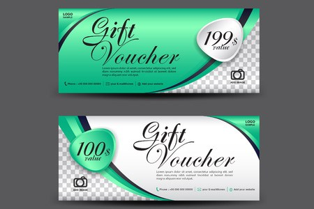 Green Gift Voucher Template  Coupon Design  Gift Certificate     Green Gift Voucher template  coupon design  Gift certificate  ticket  template  discount voucher