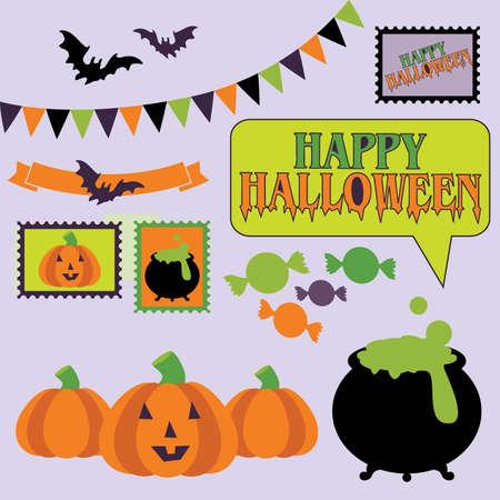 Halloween Vector Elements Stock Vector - 41260626