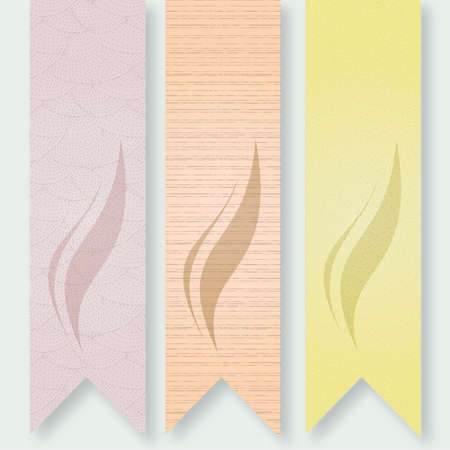 Warm Textured Vertical Banners with Shadow