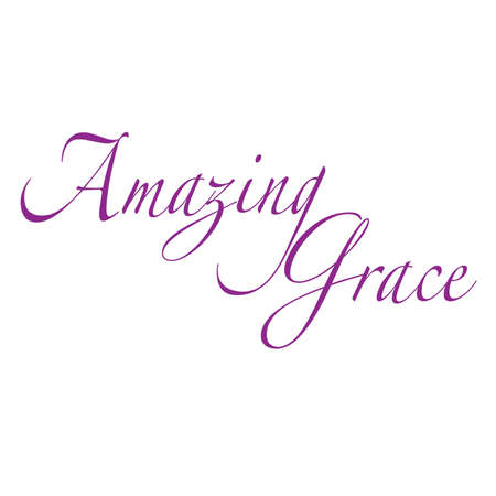 Amazing Grace Inspirational Scripture Typography Stock Vector - 57202926