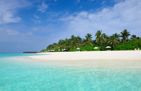 Beautiful island beach at Maldives Stock Photo - 18904827