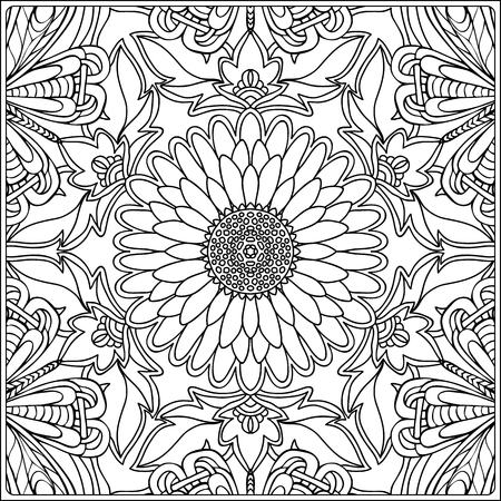 Adult Coloring Pages Stock Vector Illustration And Royalty Free Adult Coloring Pages Clipart