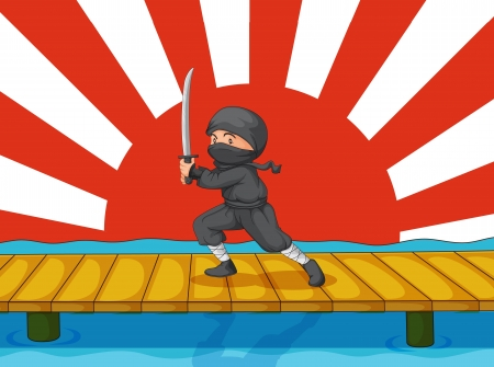 ninja: Illustration of a ninja on white