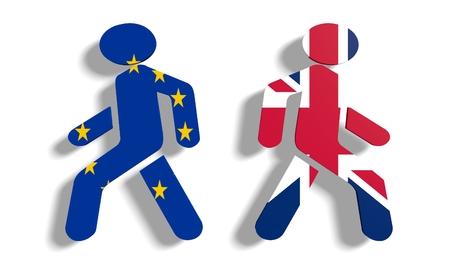 brexit: sortie de royaume-uni de l'Europe image par rapport