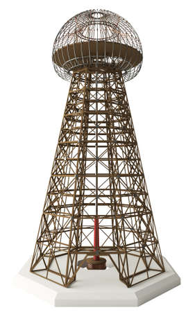 tesla: Nikola Tesla invention Magnifying Transmitter Also known as the Wardenclyffe Tower Meant to produce wireless energy