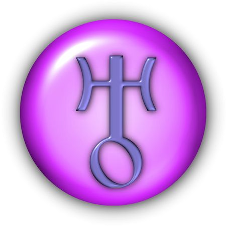 Planet Glyphs Button - Uranus Stock Photo - 350564