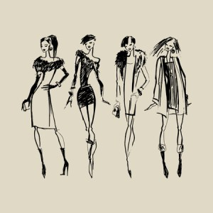 Fashion Sketch Stock Photos  Royalty Free Fashion Sketch Images Hand drawn ink Fashion illustration  Illustration