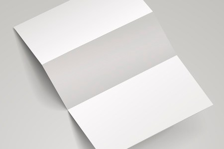 Blank Trifold Paper Brochure With Shadows  On White Background      33749533   blank tri fold brochure template over white background