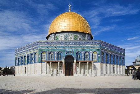 temple on the mount: Mosque Dome of the Rock on the Temple Mount, Jerusalem, Israel