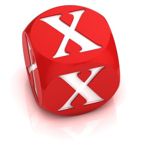 letter x: dice font letter X