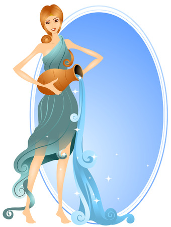 Aquarius (1 of 12) with Clipping Path Stock Vector - 3894814