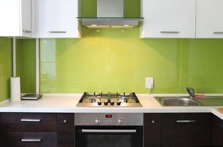 cuisinière: Cuisine moderne, domestiques, élégant design intérieur