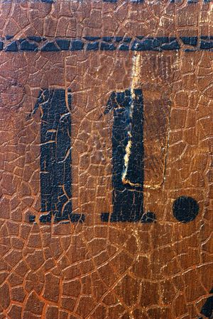 Grungy number 11 on an old church pew (more numbers are coming) Stock Photo - 1935053