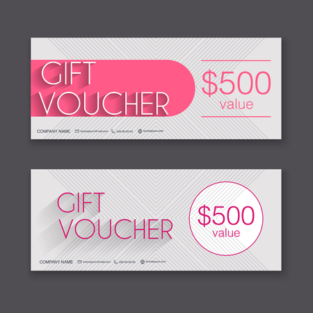 Gift Voucher Template With Colorful Pattern  Gift Certificate     Gift voucher template with colorful pattern  Gift certificate  Background  design gift coupon  voucher