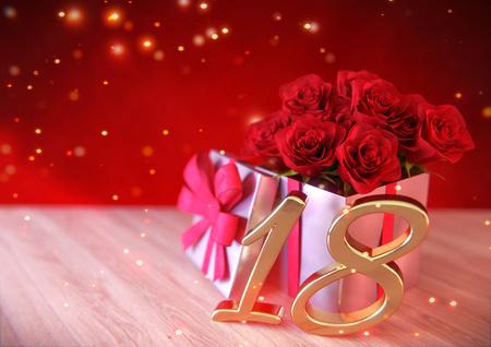 happy 18th birthday lizenzfreie bilder