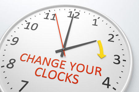 An image of a nice clock with text change your clocks Stock Photo - 27747995