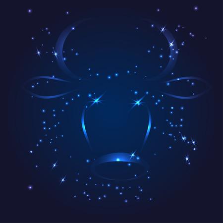 Taurus zodiac glitter star vector illustration Stock Vector - 31469793