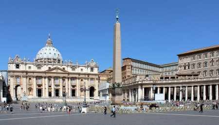 vatican: The Papal Basilica of Saint Peter in the Vatican in Rome, Italy Editorial