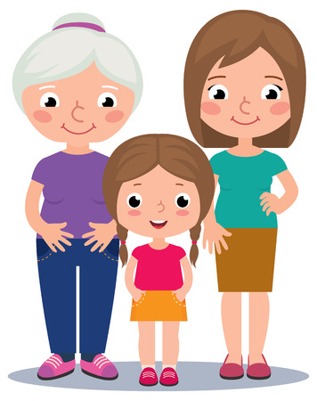 Stock illustration of three generations of women Stock Vector - 46569821