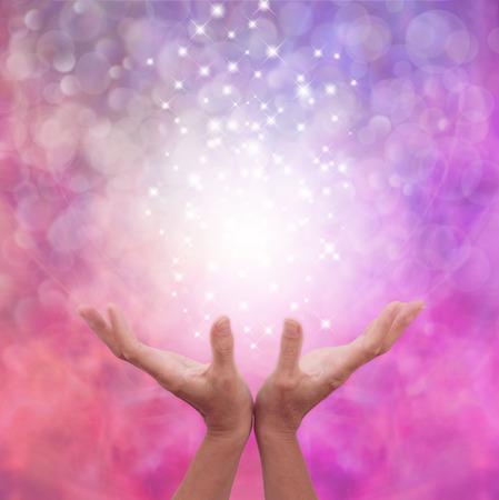 Angelic Pink Healing Energy Stock Photo - 36629986